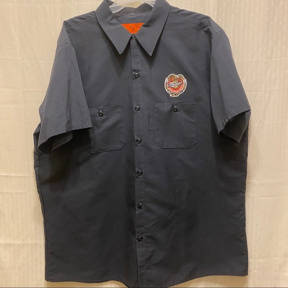 Other - Miller brewing company dickie style shirt